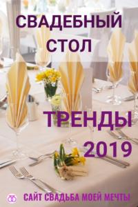 Свадебное меню 2019 — рекомендации экспертов