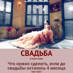 Свадьба, идеи для подготовки